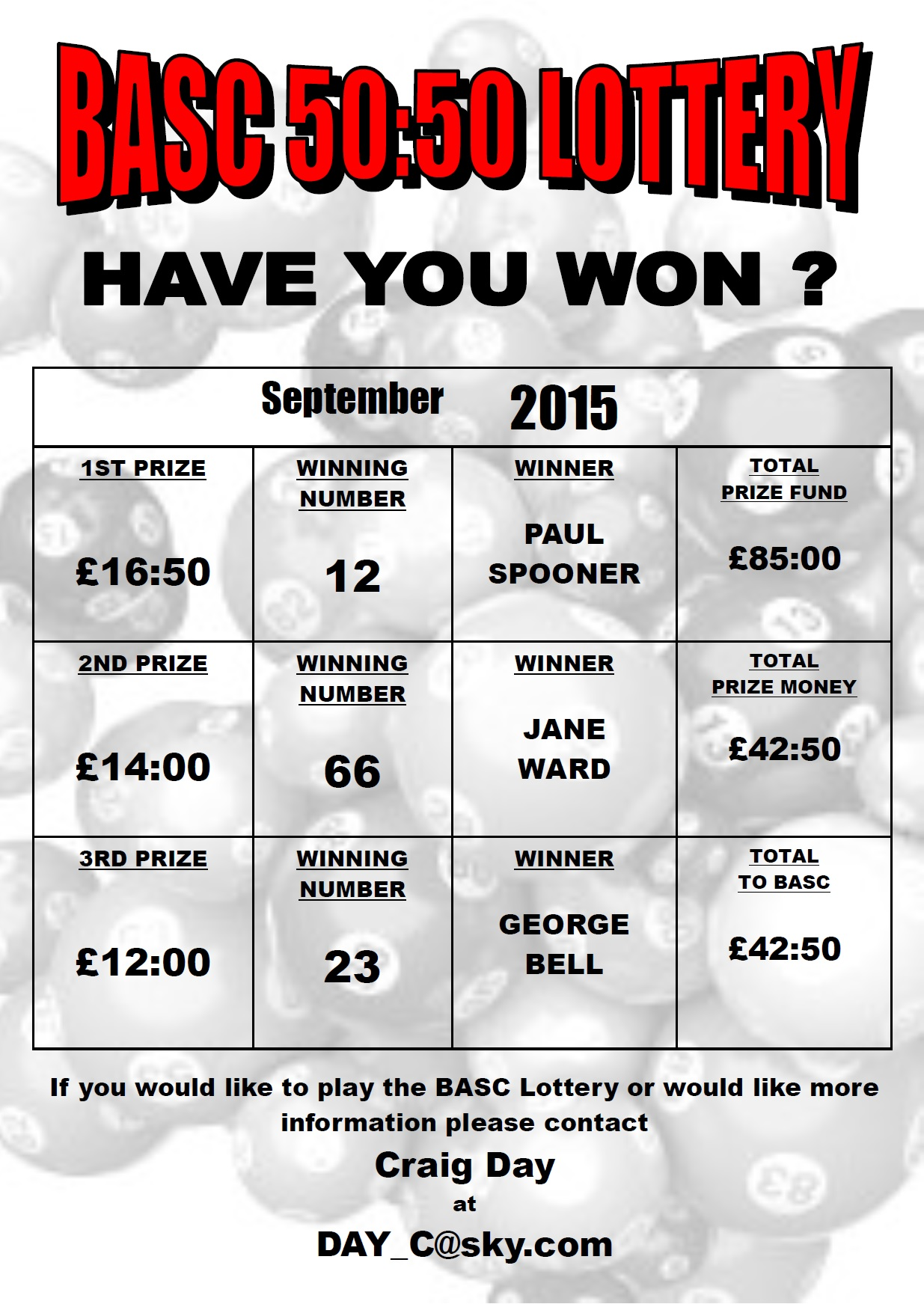 BASC 5050 Lottery Winners September 2015