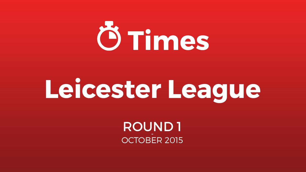 Leicester Autumn League Round 1 BurtonASC
