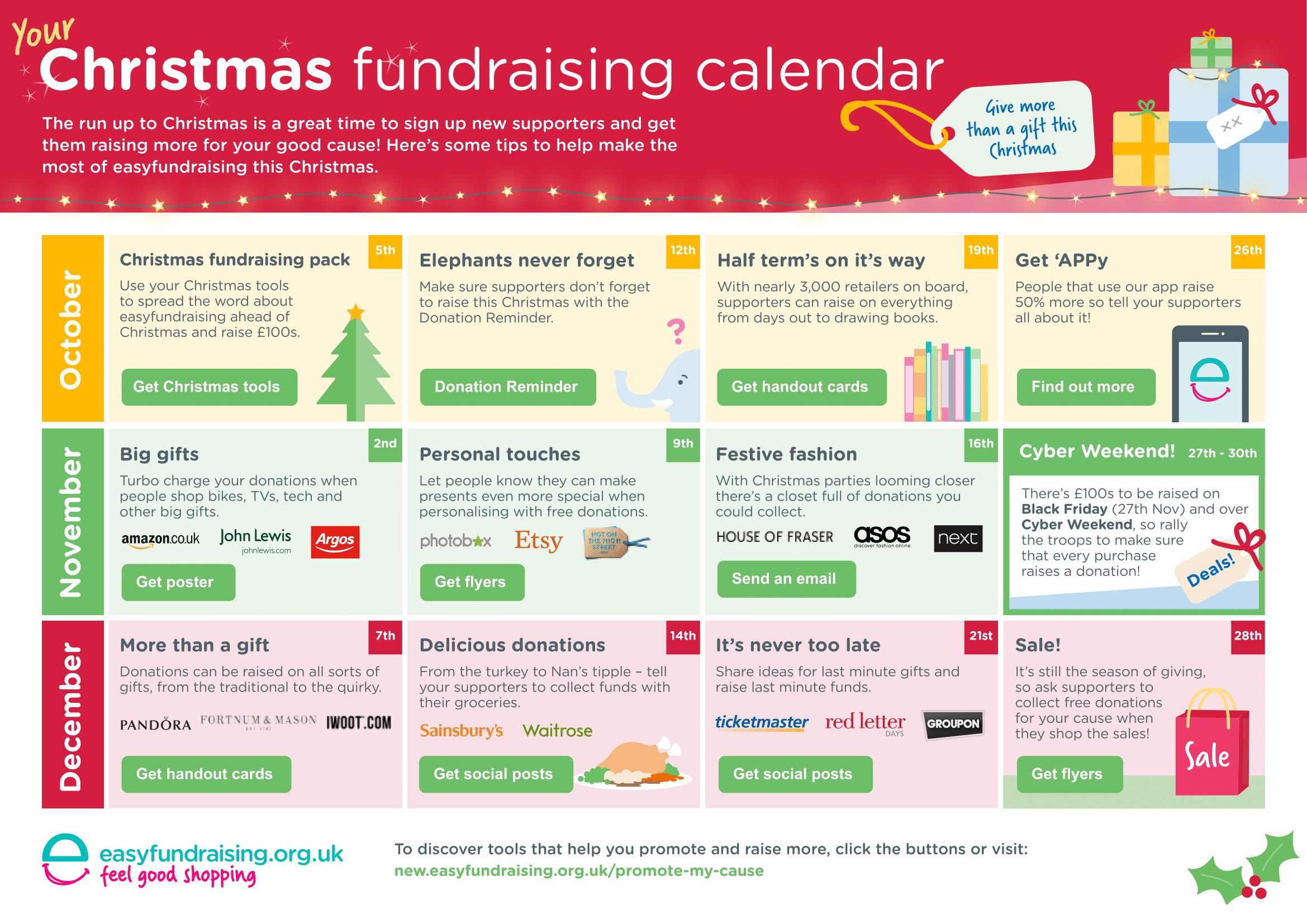 EasyFundraising Christmas Calender 2015 BurtonASC