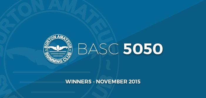 BurtonASC - Burton Amateur Swimming Club Lottery 5050 Winners November 2015