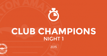 Club Champions 2015 Night 1 Burton Amateur Swimming Club
