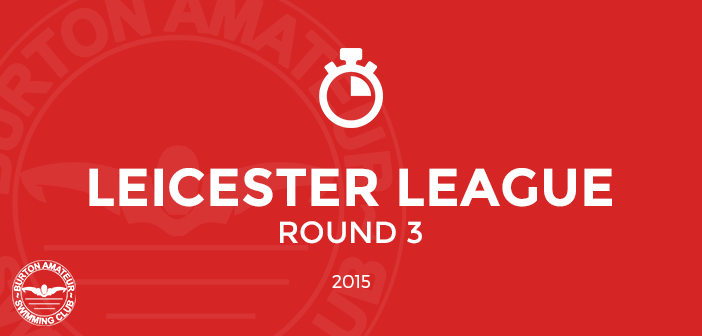 BurtonASC Leicester League Round 3 Times and Report 2015