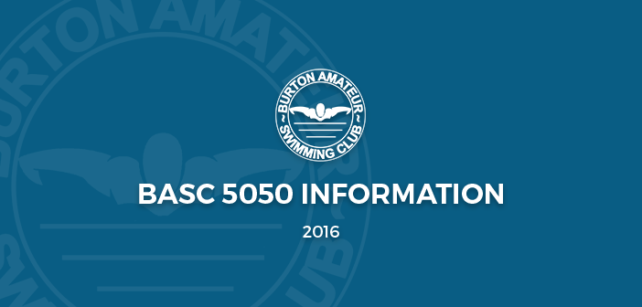 BASC 5050 Lottery Important Information January 2016
