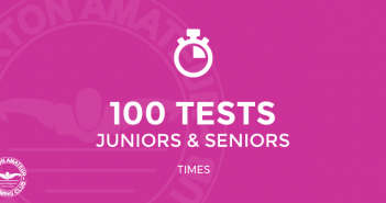 BurtonASC 100 Tests Juniors and Seniors