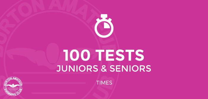 BurtonASC 100 Tests Juniors and Seniors