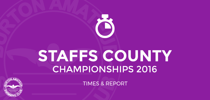 Staffordshire County Championships 2016 - February 2016 BurtonASC