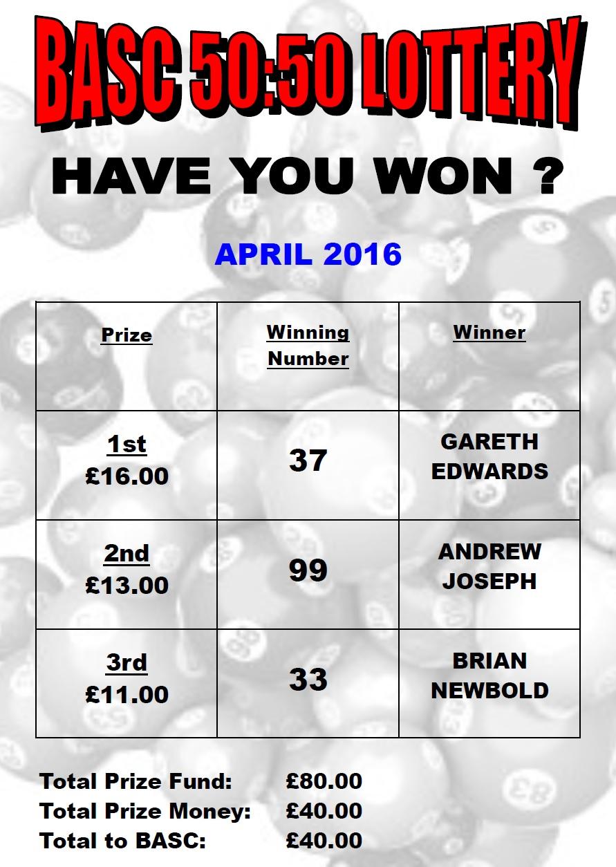 BurtonASC 5050 Lottery Results