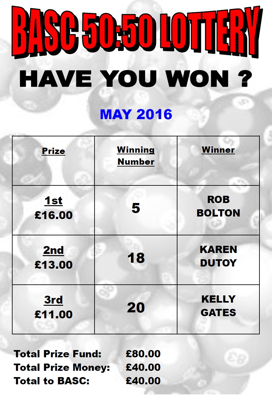 Burton Amateur Swimming Club lottery results may 2016