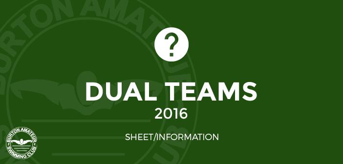 BurtonASC Burton Swimming Club Dual Teams Sheet 2016