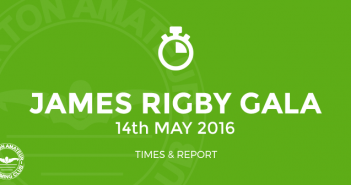 James Rigby Gala Burton Amateur Swimming Club Results May 2016