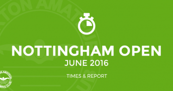 Nottingham Open Sprint June 2016 Times BurtonASC