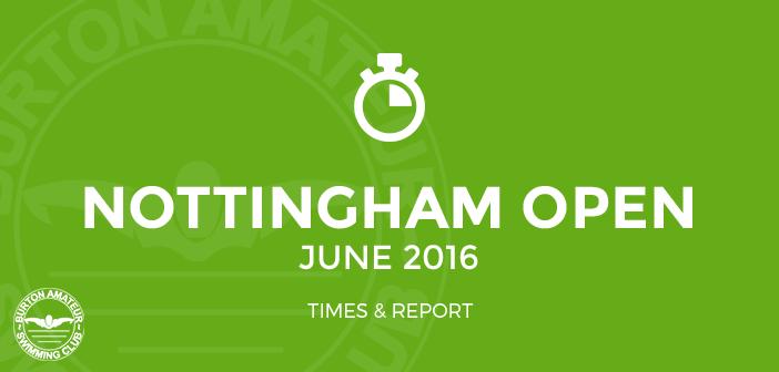 Nottingham Open Sprint June 2016 Times BurtonASC