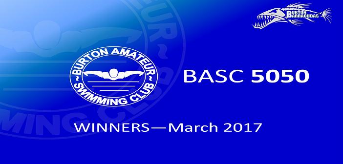 March 2017 Winners – BASC 5050 Lottery