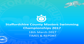 Staffordshire County Masters Swimming Championships – 2017