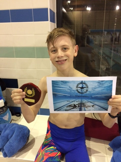 Swimmer of the Month - February 2017