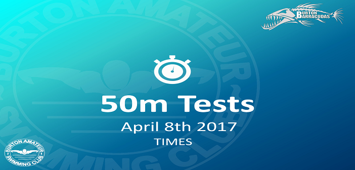 BASC Time Trials 50M April 8th – Times