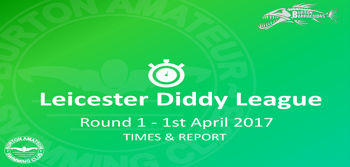 Leicester Diddy League Round 1: Meadowside April 2017 – Times and Report