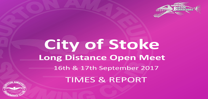 City of Stoke Long Distance Open Meet 16th and 17th September – Times and Report