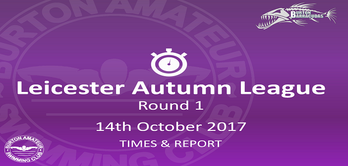 Leicester Autumn League Round 1: 14th October – Times and Report