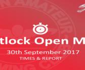 Matlock Open Meet 30th September – Times and Report
