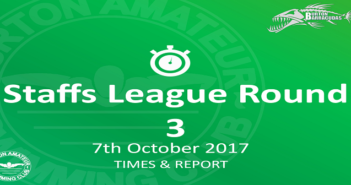 Staffs League Round 3: 7th October – Times and Report