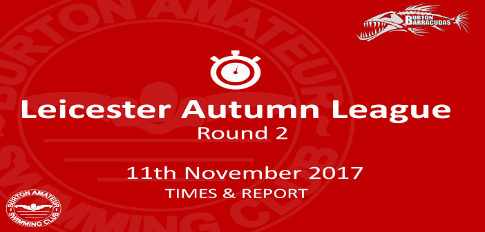 Leicester Autumn League Round 2 : 11th November – Times and Report