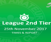 Staffs League Final: 25th November – Times and Report
