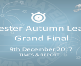 Leicester Autumn League Grand Final: 9th December – Times and Report