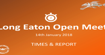 Long Eaton Open Meet : January 14th 2018 – Times and Report
