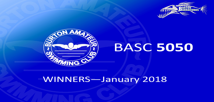 January 2018 Winners – BASC 5050 Lottery
