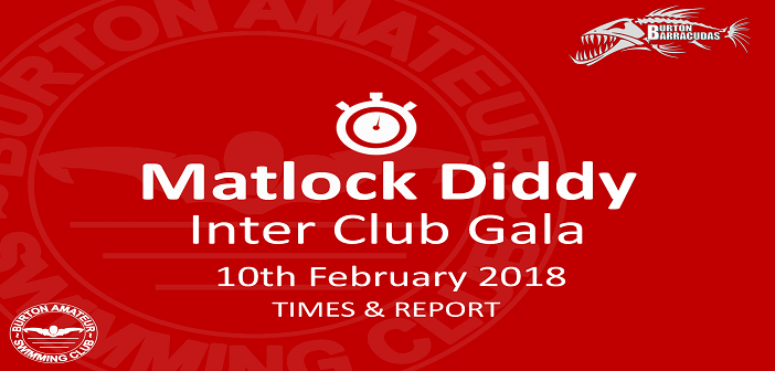 Matlock Diddy Inter Club Gala : Times and Report