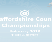 Staffordshire County Championships 2018 : Times and Report