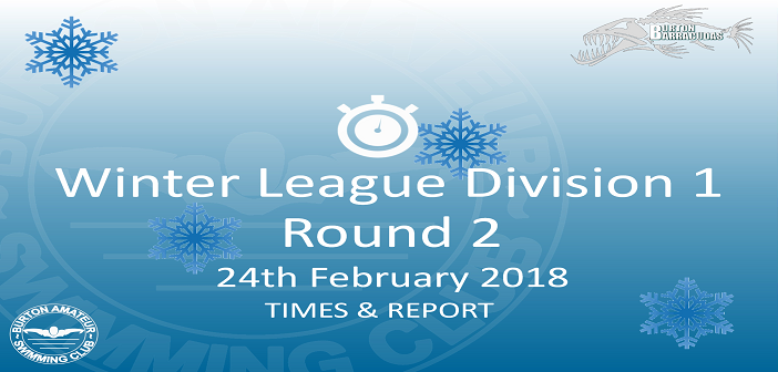 Winter League Division 1 Round 2 February 2018: Times and Report