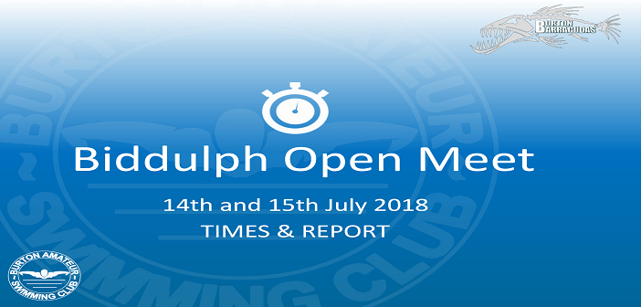 Biddulph Open Meet 2018 : Times & Report