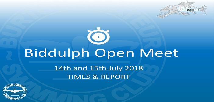 Biddulph Open Meet 2018 : Times & Report