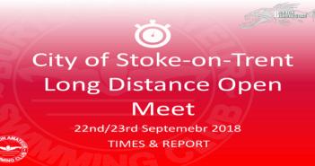 City of Stoke Long Distance Open Meet 2018 : Times & Report