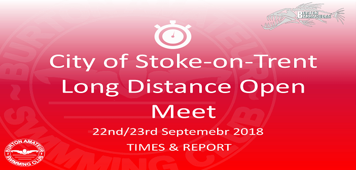 City of Stoke Long Distance Open Meet 2018 : Times & Report