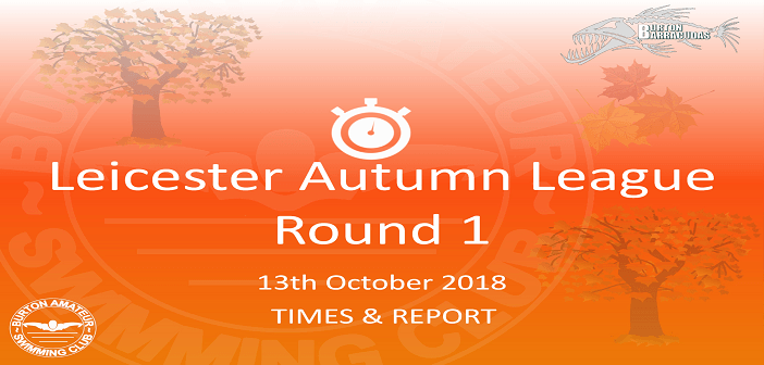 Autumn League 2018 – Round 1 : Times & Report