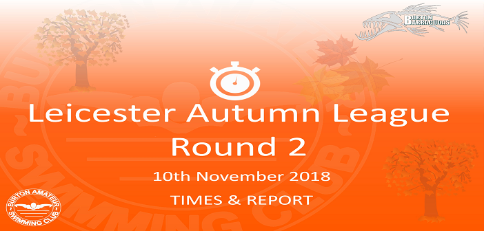 Autumn League 2018 – Round 2 : Times & Report