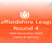 Staffs League 2018 – Round 4 : Times & Report