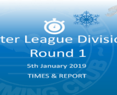 Winter League 2019 – Round 1 : Times & Report