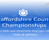Staffordshire County Championships 2019 : Times and Report