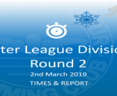 Winter League 2019 – Round 2 : Times & Report