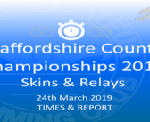 Staffordshire County Championship Skins & Relays 2019 : Times and Report