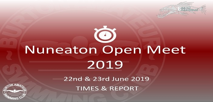 Nuneaton Open Meet 2019: Times and Report
