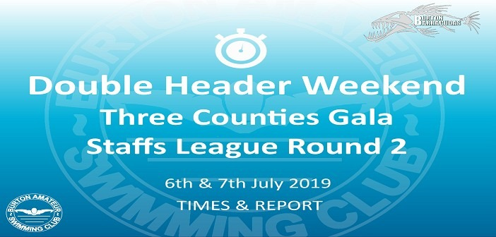Double Header Weekend: Three Counties Gala and Staffs League 2019 Round 2 – Times and Report