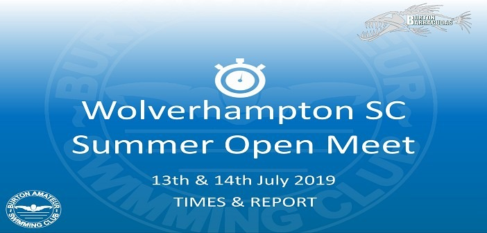 Wolverhampton SC Open Meet July 2019: Times and Report