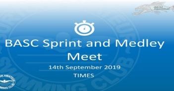BASC Sprint and Medley Meet 14th September 2019