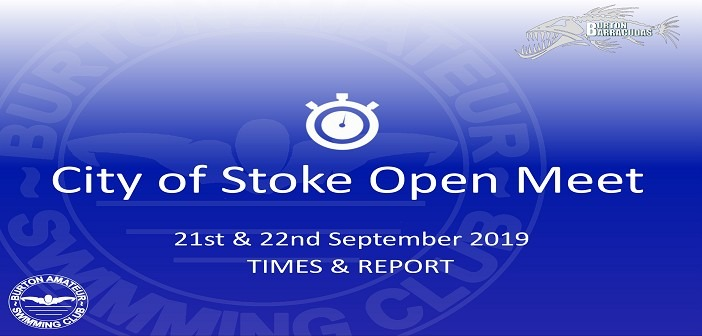 City of Stoke SC Open Meet September 2019: Times and Report