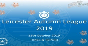Leicester Autumn League Round 1 – October 2019: Times and Report